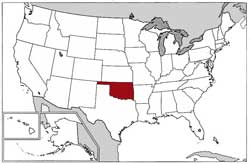 US Map Oklahoma