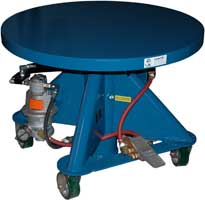 Round Top Pneumatic Post Lift