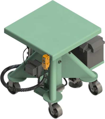 battery powered post lift tables