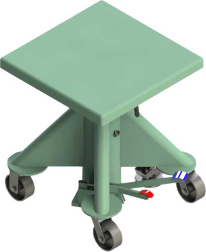 Lange Manual Post Lift Table
