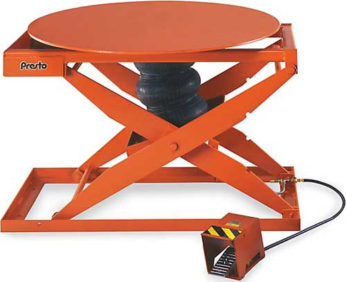 Rotating Pneumatic Lift And Turn Tables
