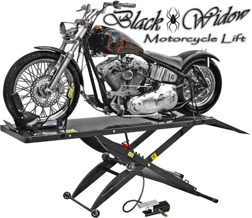 Rage Powersports Black Widow Bw 1000a Motorcycle Lift Tables