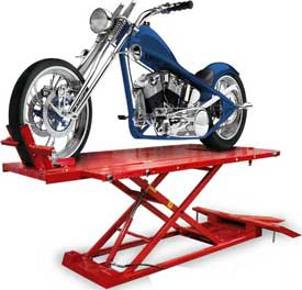 Air over Hydraulic Motorcycle Lift