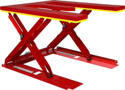 Rampless Low Profile Hydraulic Lift Tables