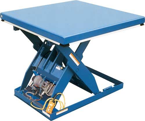 Manual Tilting Rotary Table Vestil AHLT Rotary Air Lift Tables