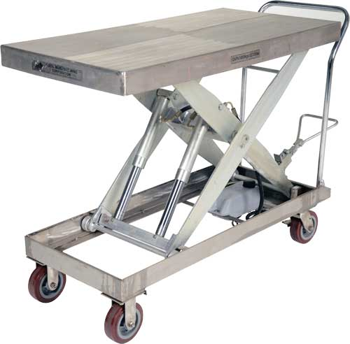 Vestil Cart Pss Partially Stainless Steel Lift Carts