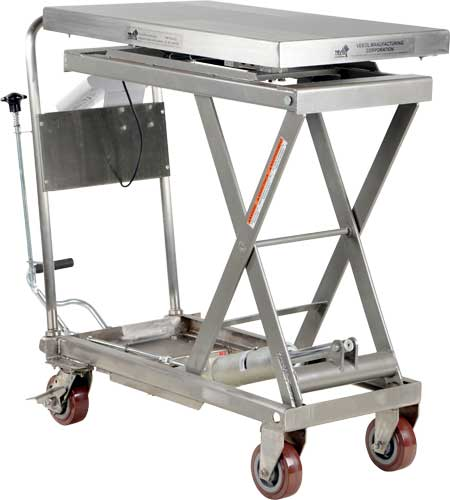 Vestil Cart Scl Pss Partially Stainless Built In Scale