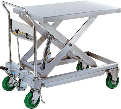 Vestil Stainless Steel Hydraulic Elevating Carts
