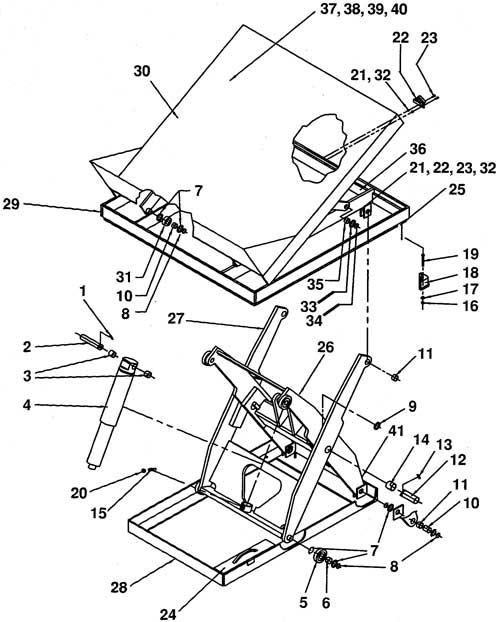 Vestil Hydraulic Lift Parts : Vestil ehltt lift and tilt tables