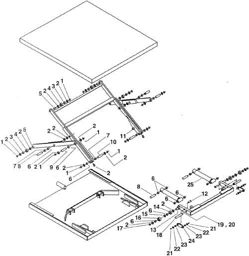 Vestil Hydraulic Lift Parts : Vestil ehltx low profile electric hydraulic lift tables