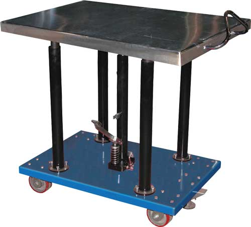 Presto Lift Table Parts ... post lift tables built for heavy duty shop use such as lifting