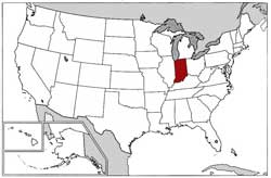 US Map Indiana